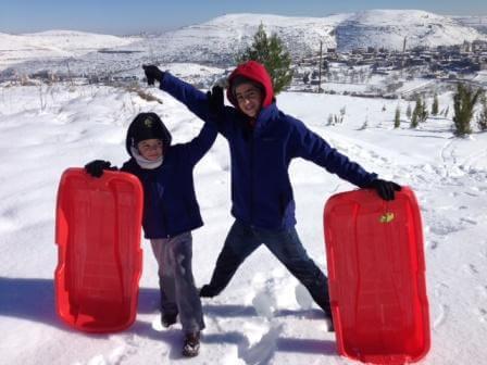 מזחלות על השלג (צילום אייל אסרף)