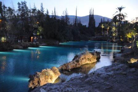 """מראה מרהיב גם בלילה, הסחנה (צילום יח""""צ)"""