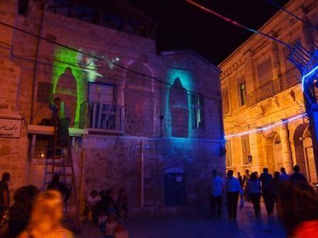 תאורה מרשימה על המבנים  (צילום אורן גולן גבאי)