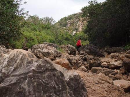 להרים רגליים ולהיזהר לא ליפול על הסלעים (צילום אורן גבאי כולן)