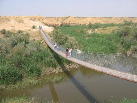 איזור מרהיב על הגשר התלוי (התמונה בחסות מועצה שקמה הבשור)