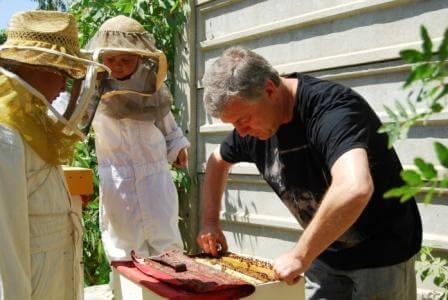 דבוראים בעבודה (התמונה באדיבות יבוץ שמיר)