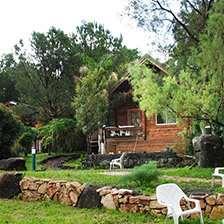 בקתות עץ בקצה הכפר